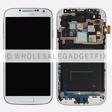White Samsung Galaxy S4 i545 L720 R970 LCD Touch Digitizer Screen Frame Assembly