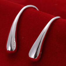 Ladies Beautiful 925 Sterling Silver Water Tear Drop Casual Fashion Earrings