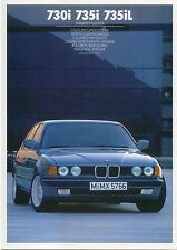 BMW 7-Series 730i 735i 735iL Colour & Trim 1986-87 Original UK Sales Brochure