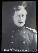 Glass Magic lantern Slide WW1 HEAD OF STATE OF BELGIUM C1915 KING ALBERT I  NO1