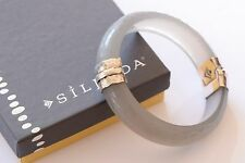 Silpada Etched Scroll Resin .925 Sterling Silver Bangle Bracelet B2186 Retired