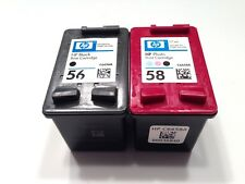 2PK Genuine HP56.HP58 Ink  Cartridges Sealed bag  C6656AN C6658AN