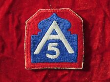 US Army 5th Army fully embroidered w/ sales tag dated Jan 1945