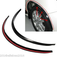 Car Body Kit Black Rubber Wheel Eyebrow Sticker Fender Flare Anti-Scratch Strip