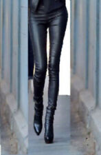 FIT SEXY LEGGING PANTS LEATHER HOSE TROUSERS s m l LEDER W 34 36 38 40 de UK xs