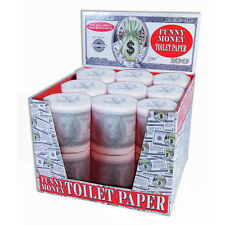 Money Toilet Paper Roll 100 Dollar Bill Tissue TP Benjamin Funny Gag Joke $ New