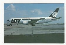 LOT Polish Airlines Boeing 767-25DER Aviation Postcard, A767