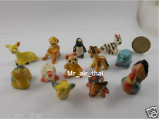 New Miniatures Ceramic Collection Figurines Animals Painted Porcelain lot 12pc