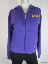 NIKE Women XS P LSU Purple Gold Sweatshirt Hoodie Jacket Cotton Blend Youth S P