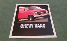 1984 CHEVY CHEVROLET VAN VANS G10 G20 G30 RV CUSTOMISED HI-CUBE USA BROCHURE