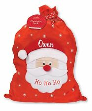 Large Christmas Xmas Embroidered Personalised Gift Santa Sack with ANY NAME