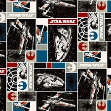 Star Wars Immortals Rebel Ship Millennium Falcon Patch Cotton Fabric Fat Quarter