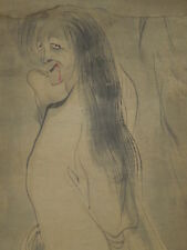 Hanging Scroll Japanese Painting Japan Rare Ghost old sumie artwork Picture k00