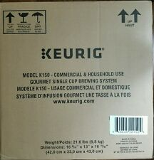 NEW Keurig K150 Commercial Household Brewing System for Coffee Tea Cocoa