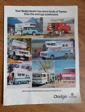 1967 Dodge Trucks Ad Crew Cab Wagon Pickup Camper Special Motor Home Chassis Cab