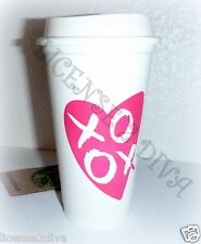 STARBUCKS REUSABLE 16 OZ PLASTIC CUP WITH LID! VALENTINE'S DAY! ONE PER ORDER