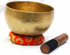 "Tibetan Chakra Healing Buddhist Yoga Hammered Meditation Singing Bowl - 5"" Bowl"