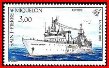 ST.PIERRE 1991 SHIPS SC#499 MNH TRANSPORT