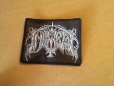 IMMORTAL,SEW ON GREY EMBROIDERED PATCH