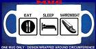 """Personalised """"EAT SLEEP NARROWBOAT"""" MUG for Narrow Boat or Barge on canal marina"""