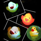 New LED Duck Light Lamp Flashing Lovely Baby Kids Bath Toy Multi Color