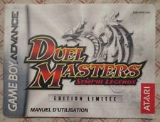 Nintendo Game Boy Advance - Duel Masters Sempai Legends (French Manual only)