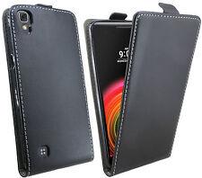 Handytasche für LG X POWER Case Cover Hülle Zubehör Flip Tasche in Schwarz
