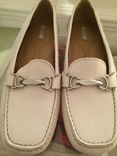 Geotex Cream Loafers Shoes Flats Tan UK 4 Euro 37 Moccasin