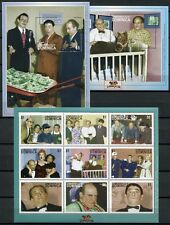 DOMINICA 2001 Three Stooges Film TV-Serie 3223-3231 + Bl.443-444 ** MNH