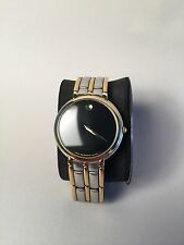 Movado Two Tone Mens Stainless Steel Swiss Museum Watch Original Case & Manual