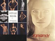 2pcs cataloghi lingerie intimo INTIMISSIMI stylebook YAMAMAY Emily Ratajkowski