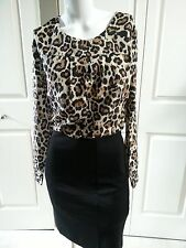 NEW BANANA REPUBLIC ELEGANT ANIMAL PRINT PETITE DRESS SIZE 0P