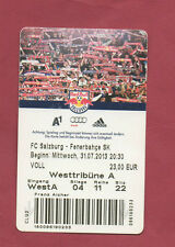 Orig.Ticket   Champions League  2013/14  RED BULL SALZBURG - FENERBAHCE ISTANBUL