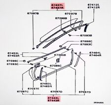 Mitsubishi Left Lower Door Weatherstrip GTO 3000GT Stealth  #67443L in Diagram