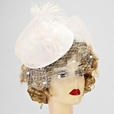 French Net Veil Fether Fascinator