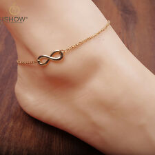 Hot Women Gold Chain Infinity Ankle Anklet Bracelet Barefoot Sandal Foot Jewelry