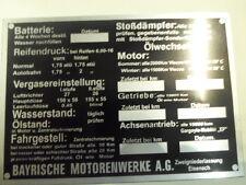 targa ì BMW Eisenach ID-piatto segno 335 Manutenzione Auto d'epoca Cambio olio