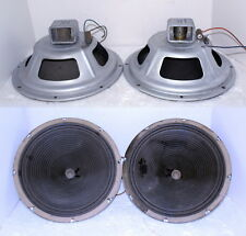 """2- Vintage 12"""" Montgomery Ward Airline Console Alnico Magnet Woofers ~ Russell ?"""