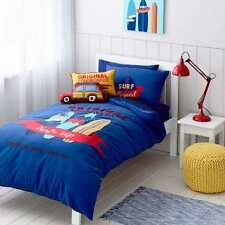 SURF'S UP BEACH BOARD SURF QUEEN bed QUILT DOONA COVER SET NEW