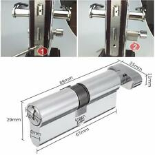 X70 SilverTone Cylinder Hardware Indoor Aluminum Home Security Gate Door Lock