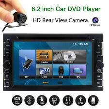 "Camera + Double 2Din 6.2"" In Dash Stereo Car DVD MP3 Player Bluetooth Radio iPod"