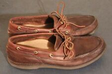 Rockport Mens Brown Leather Boat Deck shoes sz 13 M  style M5109
