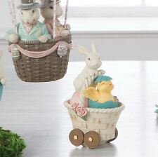 Bunny & Chick in Basket 7 in Resin decoration NEW rzea 3710236 RAZ Imports