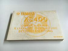 Yamaha XS 400 (D0HC) (12E) (1982) Fahrerhandbuch / Bedienungsanleitung