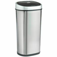 VonHaus 50L Automatic Sensor Touchless Kitchen Waste Dust Bin - Stainless Steel