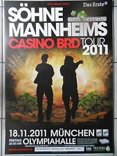 SÖHNE MANNHEIMS 2011 MÜNCHEN  orig.Concert-Konzert-Tour-Poster-Plakat DIN A1