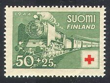 Finland 1944 Steam/Engine/Trains/Red Cross 1v (n24811)