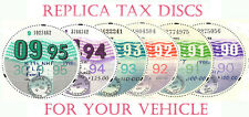TAX DISCS~4 QUALITY REPLICAS FOR  DISCERNING OWNERS. ALL YEARS FROM 1921-2020