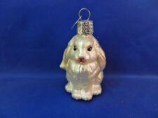 Baby Bunny Rabbit Old World Christmas Ornament Tree Glass Animal NWT 12365w