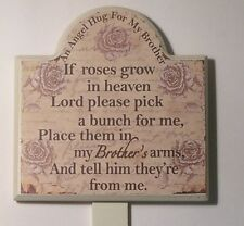 Brother Memorial Wooden Grave Stick, Stake Ornament Funeral Tribute SG1951